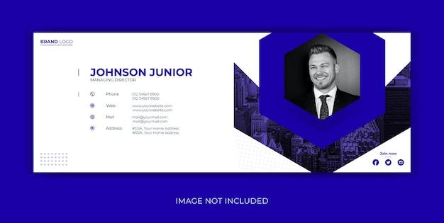 Plantilla de firma de correo electrónico diseño de portada de facebook