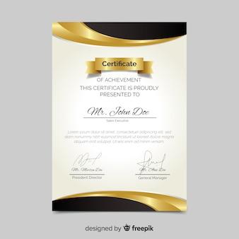 Plantilla flat de certificado