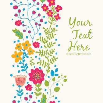 Plantilla floral para descarga gratuita
