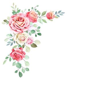 Plantilla floral hermoso ramo