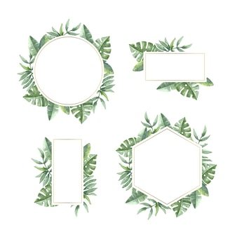 Plantilla floral para marco de boda