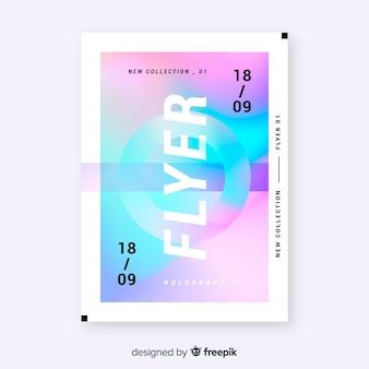 Plantilla de flyer abstracto colorido