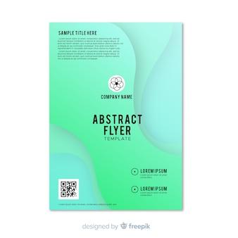 Plantilla de flyer abstracto