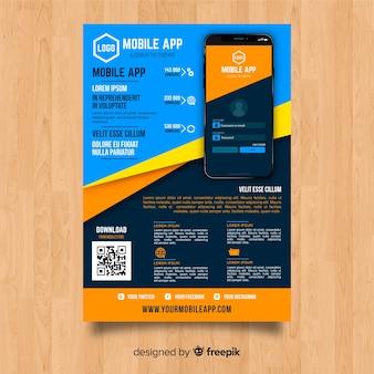 Plantilla de flyer de app móvil