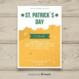 Plantilla de flyer del día de san patricio