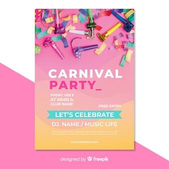 Plantilla de flyer de fiesta de carnavales