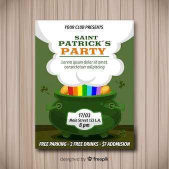 Plantilla de flyer de fiesta del día de san patricio