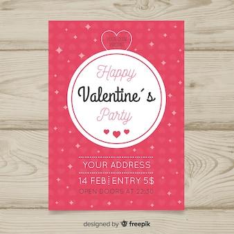 Plantilla de flyer de fiesta del día de san valentín