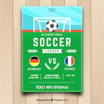 Plantilla de flyer de fútbol