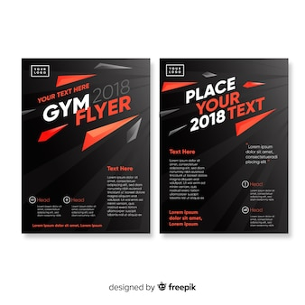 Plantilla flyer gym