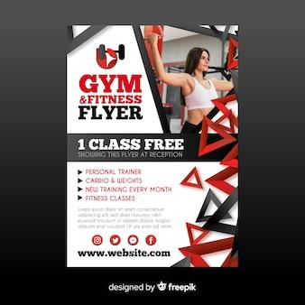 Plantilla flyer gym