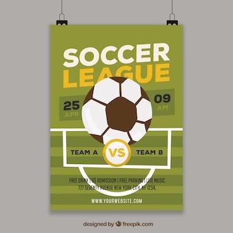 Plantilla de flyer de liga de fútbol