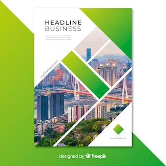 Plantilla de flyer para negocio con mosaico de imágenes