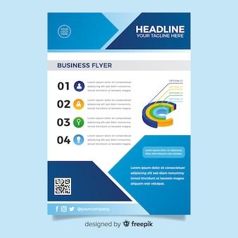 Plantilla de flyer de negocios en diseño plano