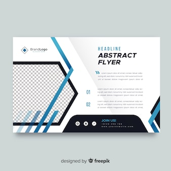 Plantilla de flyer de negocios con formas abstractas