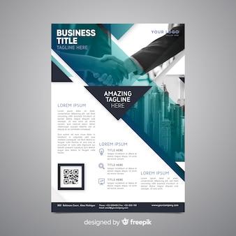 Plantilla de flyer de negocios con foto
