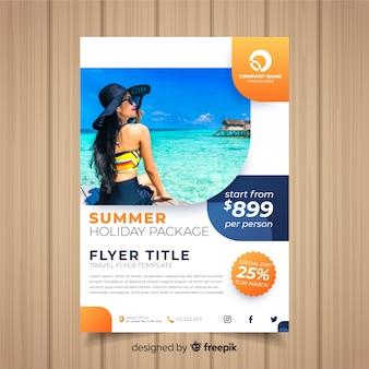 Plantilla de flyer de viaje
