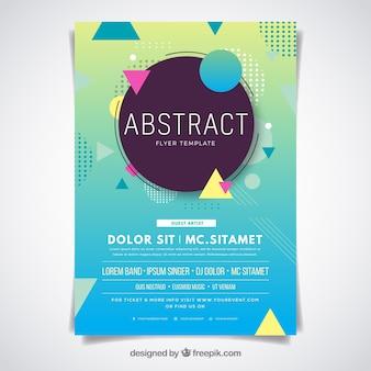 Plantilla de folleto abstracto con diseño plano