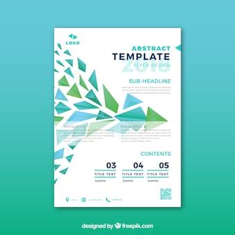 Plantilla de folleto abstracto con estilo moderno