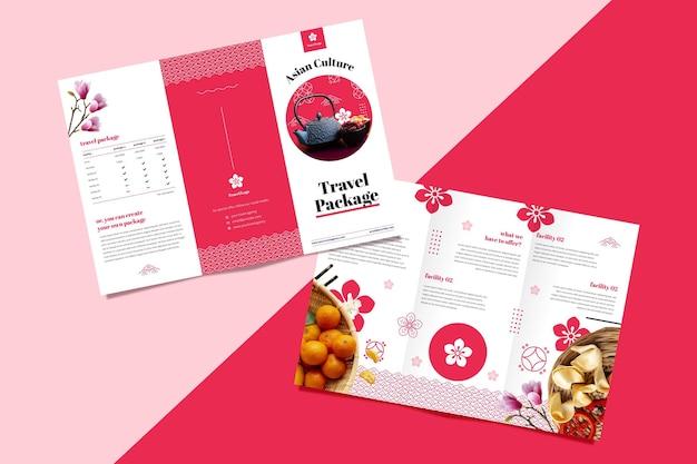 Plantilla de folleto para agencia de viajes.