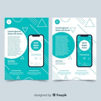 Plantilla de folleto para aplicación movil