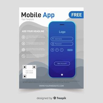 Plantilla de folleto de aplicación móvil