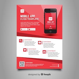 Plantilla de folleto de aplicaciones móviles
