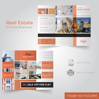 Plantilla de folleto - bienes raíces