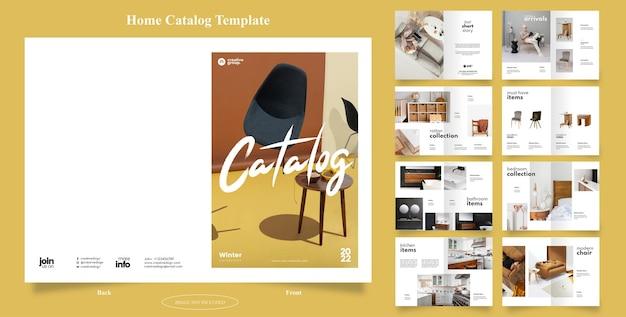 Plantilla de folleto de catálogo de inicio