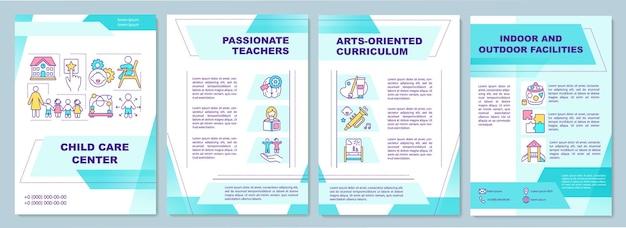 Plantilla de folleto de centro de cuidado infantil