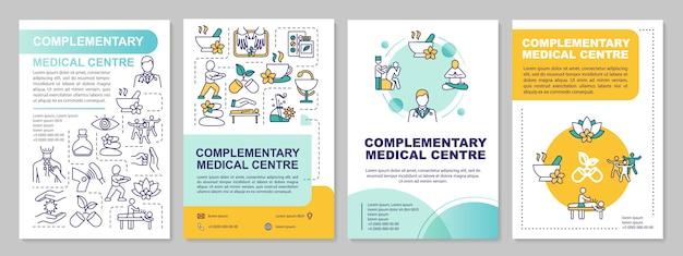Plantilla de folleto del centro médico complementario