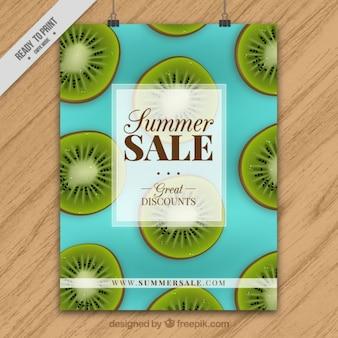 Plantilla de folleto a color de rebajas de verano