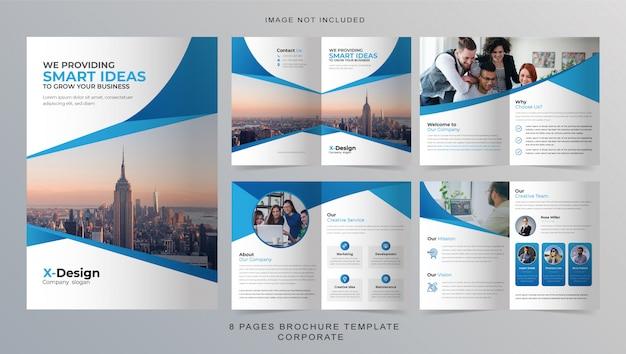 Plantilla de folleto comercial de 8 páginas