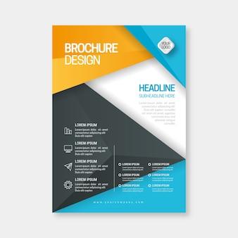 Plantilla de folleto comercial abstracto