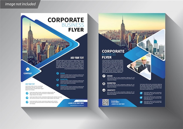Plantilla de folleto comercial para folleto corporativo de portada