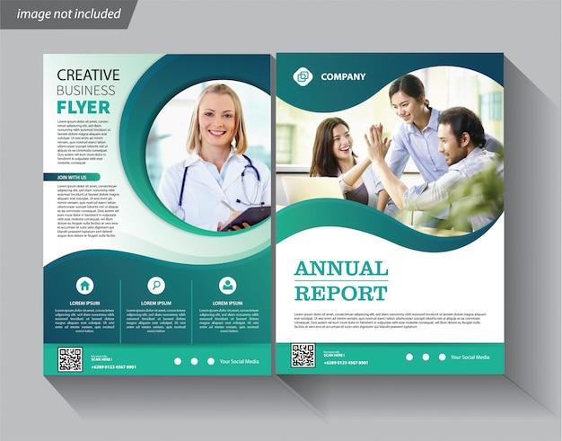 Plantilla de folleto comercial para folleto corporativo de portada