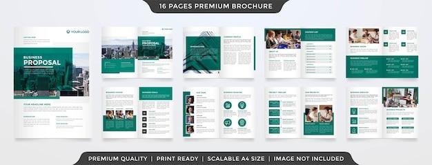 Plantilla de folleto comercial minimalista estilo limpio