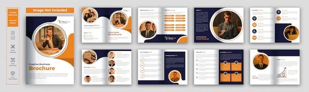 Plantilla de folleto comercial de páginas
