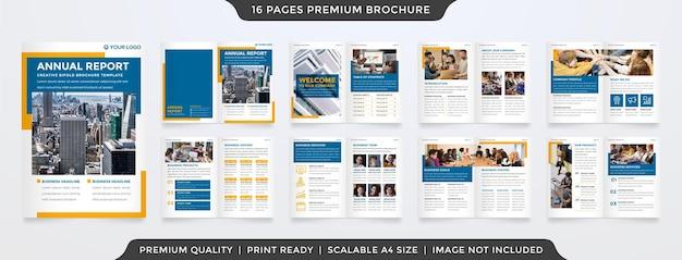Plantilla de folleto comercial plegable con concepto moderno