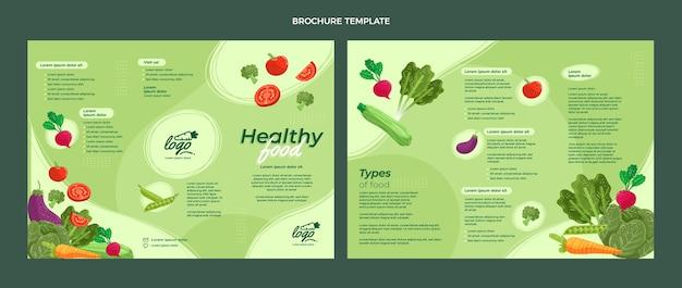 Plantilla de folleto de comida plana