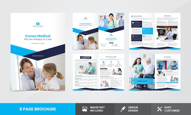 Plantilla de folleto - compañía médica