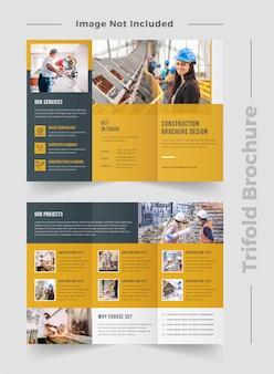 Plantilla de folleto de construcción