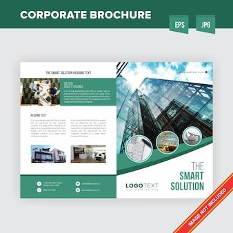Plantilla de folleto - corporación de bienes raíces corporativos