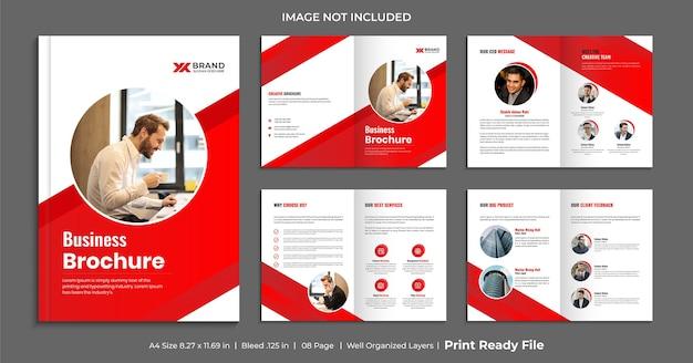 Plantilla de folleto corporativo de varias páginas