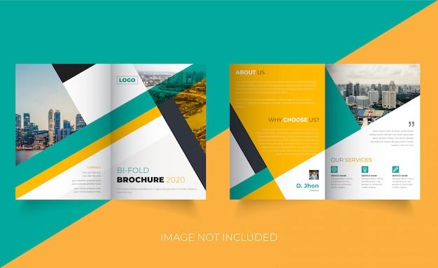 Plantilla de folleto creativo de doble pliegue