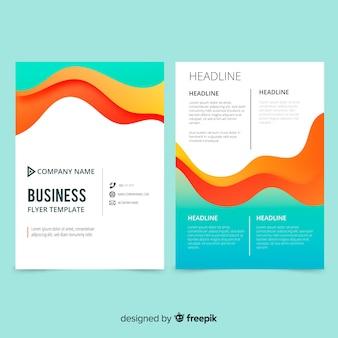 Plantilla de folleto creativo de negocios