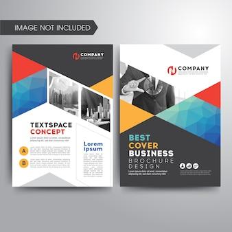 Plantilla de folleto de cubierta de negocios