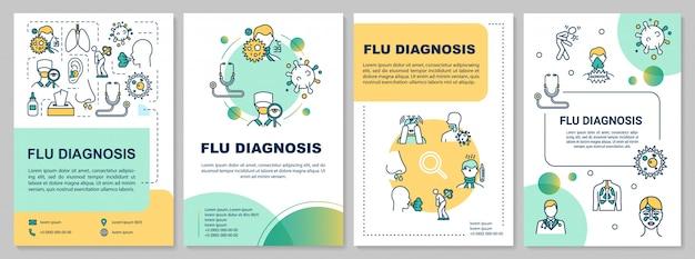 Plantilla de folleto de diagnóstico de gripe