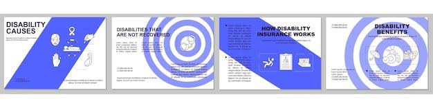 Plantilla de folleto de discapacidades no recuperadas. beneficios por discapacidad.