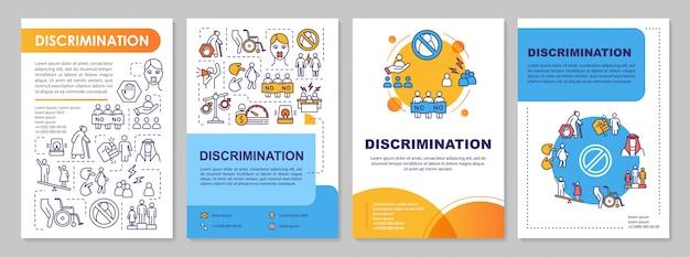 Plantilla de folleto de discriminación de género